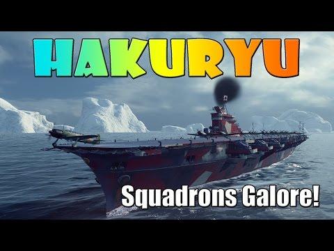 World of Warships - Hakuryu - Squadrons Galore!