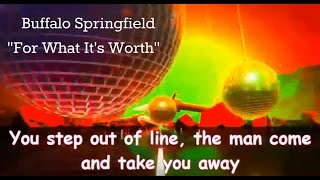 for what it s worth stop children whats that sound by buffalo springfield with lyrics