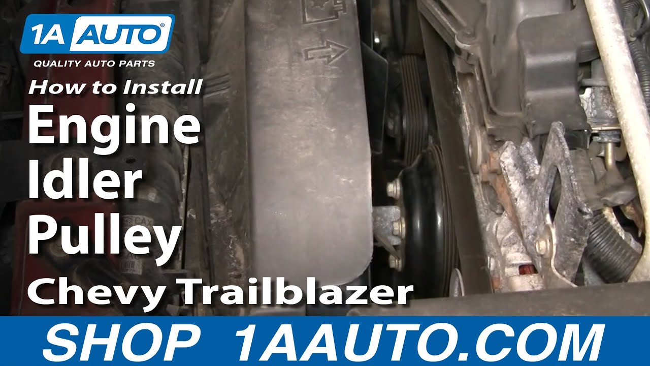 how to replace engine idler pulley 02 09 chevy trailblazer 1a auto parts [ 1280 x 720 Pixel ]