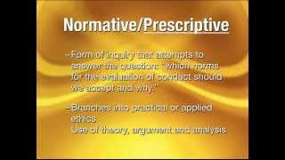 Normative and Non-Normative Ethics