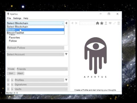 Apertus 0.3 Storing encrypted data on a blockchain
