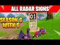 """Record a Speed of 27 or more on Different radar Signs """" ALL LOCATIONS AND GUIDE """" Fortnite"""