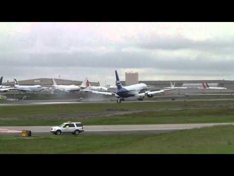 Azerbaijan Cargo 767 Landing