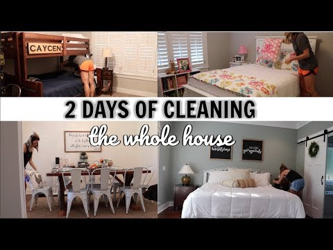 WHOLE HOUSE CLEAN WITH ME 2018 // TWO DAYS OF CLEANING THE WHOLE HOUSE // PRODUCT GIVEAWAY