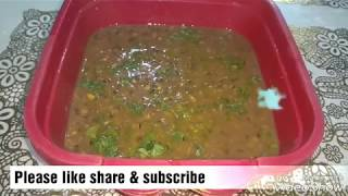 "Zero Oil Cooking recipes ""Daal Makhani"""