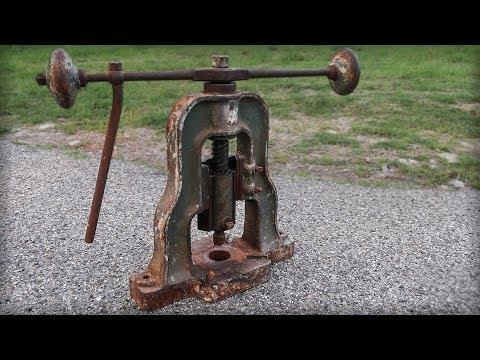A-Frame Fly Press Restoration