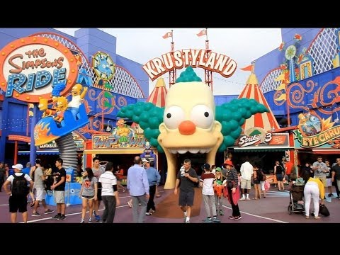 Hd Tour Of The New Krustyland S Simpons Games At Universal Studios