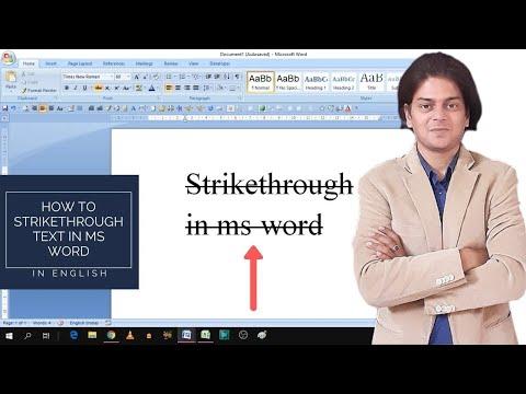 Draw A Line Through The Middle   Strikethrough In Ms Word   Strikethrough In Word