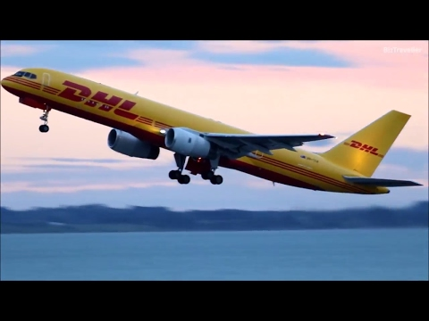 [Golden Hour] DHL (Tasman Cargo)  757-200(F) departs Auckland for Sydney