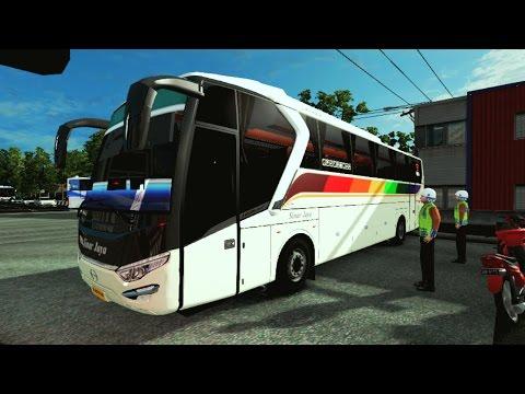 Euro Truck Simulator 2 | Bus Sinar Jaya Ngebut PARAH Di Jalur Pantura