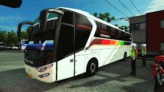 Euro Truck Simulator 2   Bus Sinar Jaya Ngebut PARAH Di Jalur Pantura