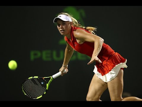 2017 MIami Open Quarterfinals | Wozniacki vs Safarova | WTA Highlights