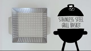 Stainless Steel Grill Basket - Grill Vegetables