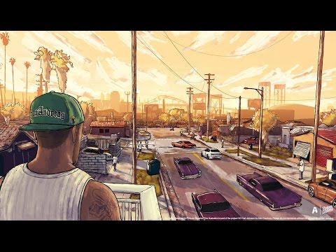 GTA V - CJ Is Back! Families Take Over Grove Street (GTA V movie)