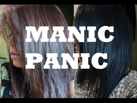 How To Manic Panic On Dark Hair Youtube