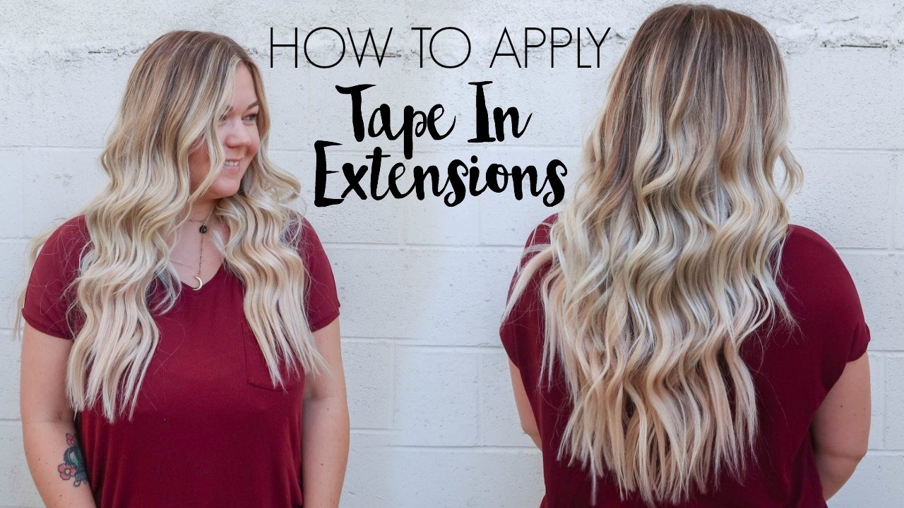 how to apply tape in extensions youtube. Black Bedroom Furniture Sets. Home Design Ideas