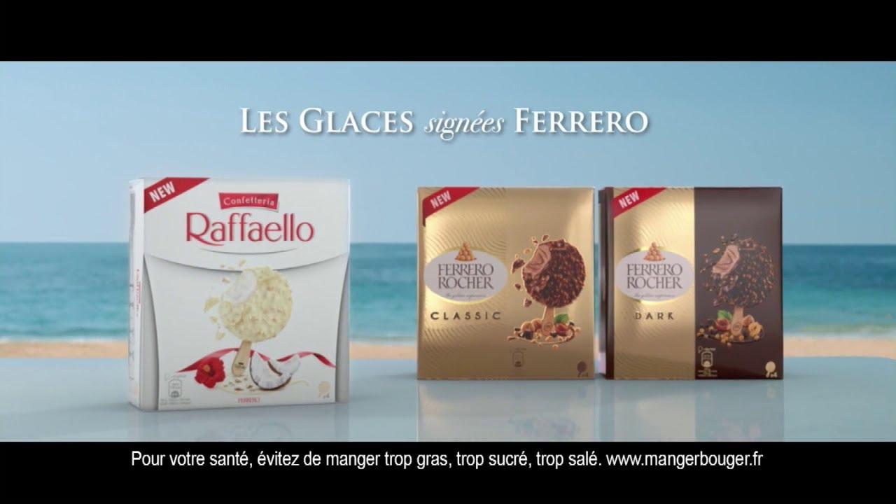 """Musique de la pub Nouvelles glaces Raffaello et Ferrero Rocher """"les glaces signées Ferrero""""  Mai 2021"""