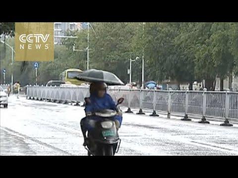 Typhoon Mirinae hits China's island province of Hainan