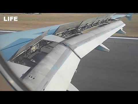 Полное видео взлёта и посадки самолёта 'Уральских авиалиний'