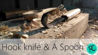 Making a crooked knife & carve a spoon