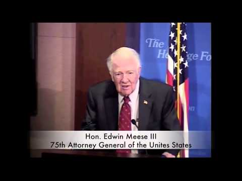 Hon. Edwin Meese III - The Unfinished Work of the Fall of the Berlin Wall: Advancing the Rule of Law