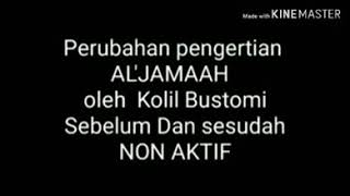 Download Pernyataan kolil Bustomi sebelum dan sesudah NON AKTIF