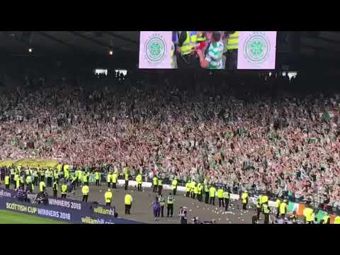 Celtic Post-Match Celebrations Scottish Cup Final 2018