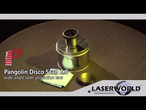 Pangolin DiscoScan 2.0 wide angle lens for laser show projectors   Laserworld