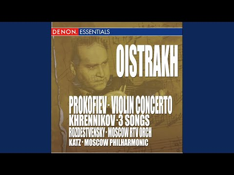 Concerto for violin & orchestra no. 1 in d major, op. 19: iii. moderato - allegro moderato -... mp3