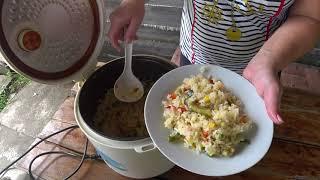 рис с мексиканской смесью в мультиварке ужин по быстрому
