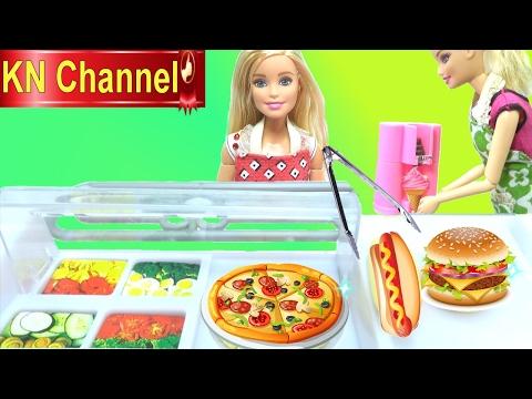 Đồ chơi nấu ăn SỰ CỐ TẠI CỬA HÀNG THỨC ĂN NHANH VÀ KEM barbie doll & baby doll