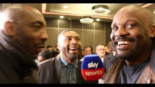 JOHNNY NELSON DOES LOOK NOT HAPPY - AS DERECK CHISORA ATTEMPTS TO TAKE HIS JOB ON SKY SPORTS!
