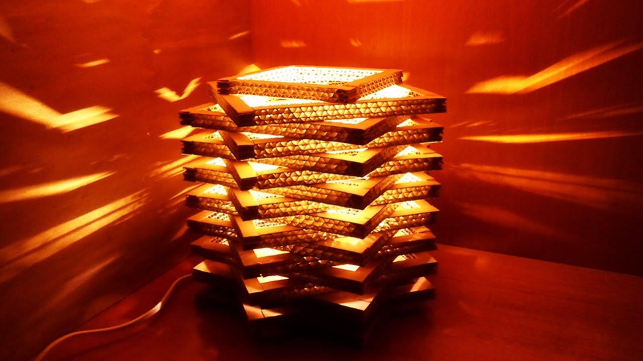 Lampada In Cartone 01lamp : Crea una bella e semplice lampada di cartone fai da te