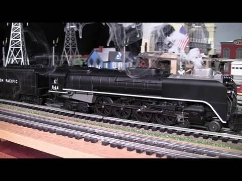 MTH Premier UP F-E-F (4-8-4) O-Gauge Steam Locomotive in True HD 1080p