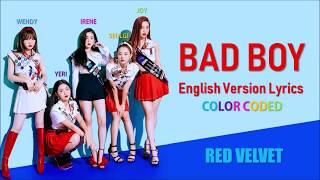 Red Velvet Bad Boy Full English Version Lyrics (Color Coded)