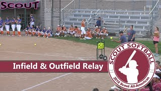 Scout Softball - 2018 All-American Games Infield and Outfield Relay