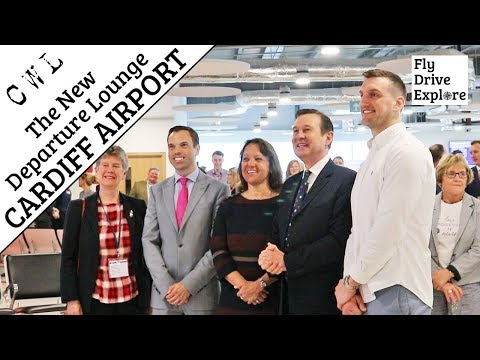 Cardiff Airport - The Opening Of The New Departure Lounge By Sam Warburton