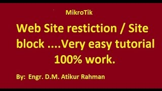 Download Video How to configure website restriction in Mikrotik MP3 3GP MP4