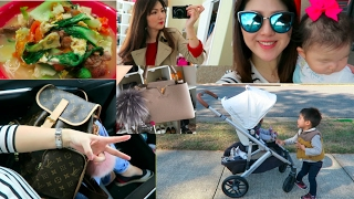 vlog lv bosphore wimb new stroller for 3 oxtail soup and ootds