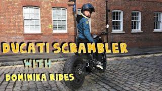 Ducati Scrambler with Dominika