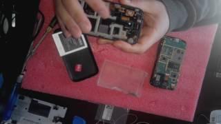 Снятие сенсора с телефона Samsung gt-s7272