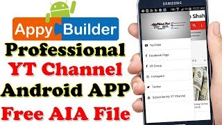 Professional Android Application For YouTube Channel Free AIA File