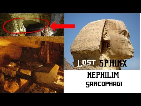 """Sphinx guards """"Suppressed"""" Nephilim """"God-King"""" Coffins. Did Giants """"Found"""" Egyptian Civilization?"""