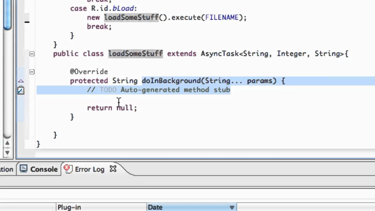 Android Application Development Tutorial - 101 - Async Task class to load  stuff