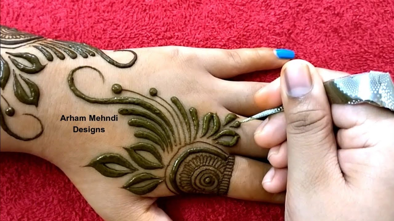 latest simple mehndi designs for back hands