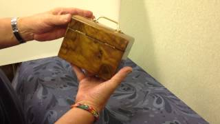 Online And For Sale A Olive Wood Single Tea Caddy At Mostlyboxesantiques.com