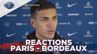 REACTIONS: PARIS SAINT-GERMAINvs BORDEAUX