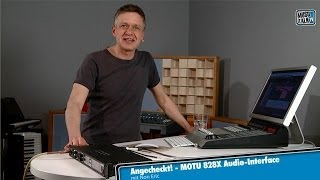 Test - Motu 828X Audio-Interface - deutsch