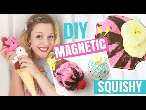 🍦DIY Ice Cream Cone SQUISHY Tutorial!-Magnetic Scoops and Toppings!
