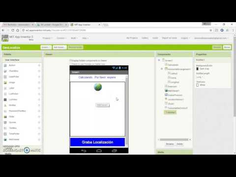 App Inventor: GeoLocaliza (GPS y Fusion Tables)
